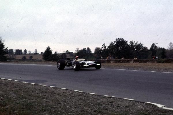 1968 United States Grand Prix.Watkins Glen, New York, USA.4-6 October 1968.Jo Siffert (Lotus 49B Ford) 5th position.Ref-68 USA 43.World Copyright - LAT Photographic