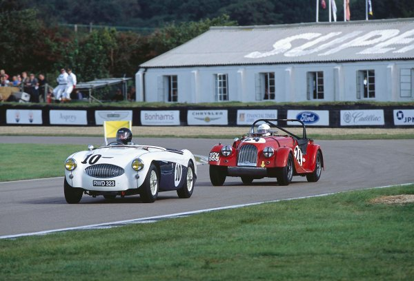 2002 Goodwood Motor Circuit Revival. Goodwood, England. 6th - 8th September 2002. Gerry Marshall, Austin Healey 100S. World copyright: Jeff Bloxham/LAT.
