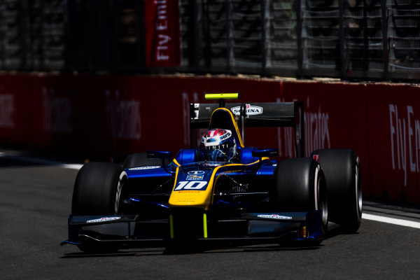 2017 FIA Formula 2 Round 4. Baku City Circuit, Baku, Azerbaijan. Friday 23 June 2017. Nicholas Latifi (CAN, DAMS)  Photo: Zak Mauger/FIA Formula 2. ref: Digital Image _54I9775