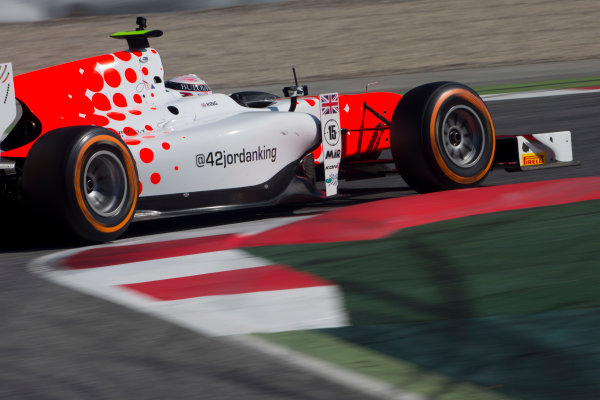 Circuit de Barcelona Catalunya, Barcelona, Spain. Tuesday 14 March 2017. Jordan King (GBR, MP Motorsport). Action.  Photo: Alastair Staley/FIA Formula 2 ref: Digital Image 585A8143