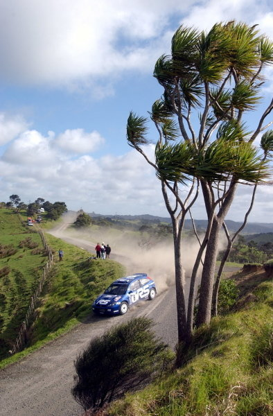 Markko Martin (EST) / Michael Park (GBR) Ford Focus RS WRC 02.World Rally Championship, Rd12, Propecia Rally of New Zealand Shakedown, Auckland, New Zealand, 2 October 2002.DIGITAL IMAGE