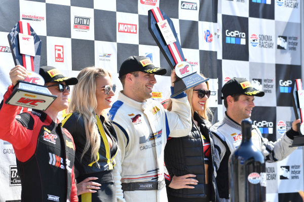 Pirelli World Challenge Grand Prix of Sonoma Sonoma Raceway, Sonoma, CA USA Sunday 17 September 2017 Patrick Long, Michael Cooper, Pierre Kaffer World Copyright: Richard Dole LAT Images ref: Digital Image RD_NOCAL_17_217