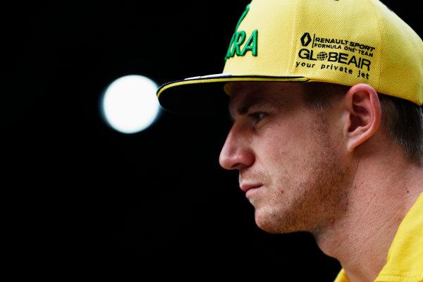 Sepang International Circuit, Sepang, Malaysia. Friday 29 September 2017. Nico Hulkenberg, Renault.  World Copyright: Zak Mauger/LAT Images  ref: Digital Image _56I2317