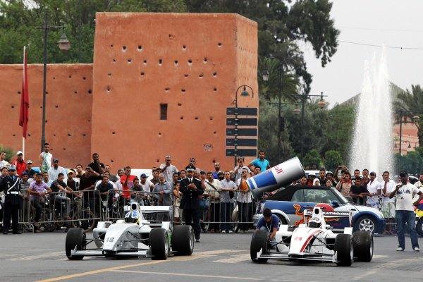 (L to R): Jack Clarke (GBR) and Will Bratt (GBR)  FIA Formula Two Championship, Rd2,  Marrakech, Morocco. Thursday 29 April 2010