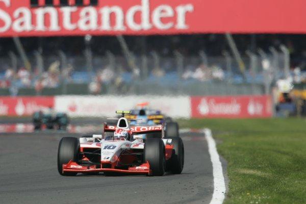 2007 GP2 Series Round 5. Silverstone, England. 8th July 2007. Sunday Race.Adam Carroll (GBR, Petrol Ofisi FMS International). Action.World Copyright: Andrew Ferraro/GP2 Series Media Service.  ref: Digital Image _F6E6672