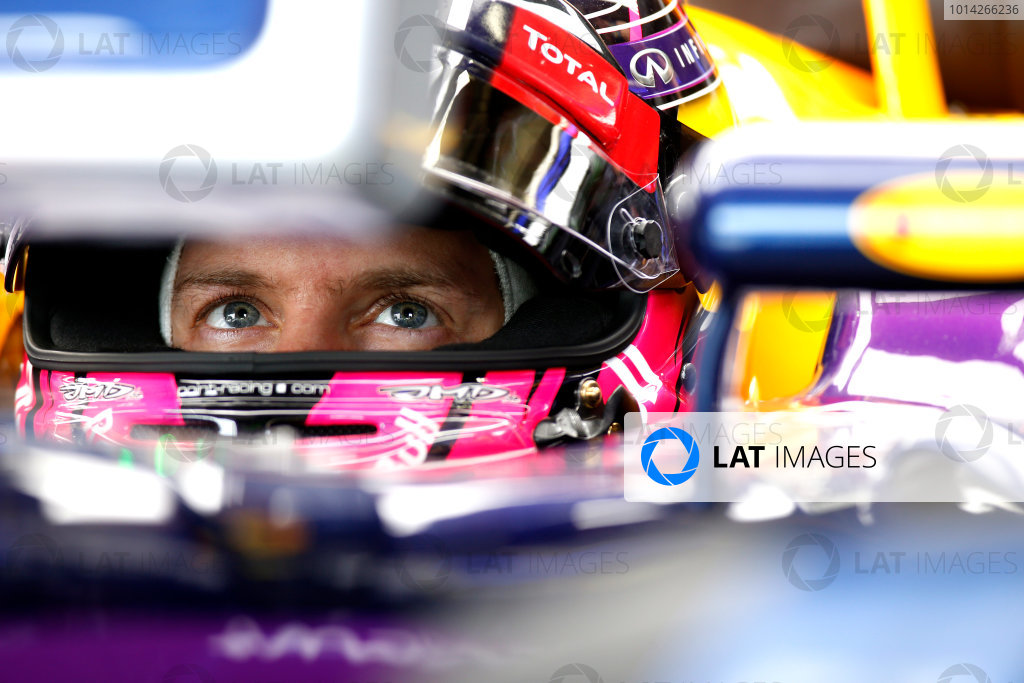 Interlagos, Sao Paulo, Brazil. Saturday 8 November 2014. Sebastian Vettel, Red Bull Racing. World Copyright: Glenn Dunbar/LAT Photographic. ref: Digital Image _89P1127