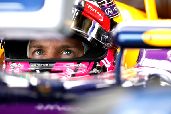 Interlagos, Sao Paulo, Brazil. Saturday 8 November 2014. Sebastian Vettel, Red Bull Racing. World Copyright: Glenn Dunbar/LAT Photographic. ref: Digital Image _89P1127