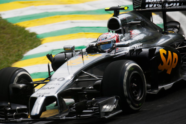Interlagos, Sao Paulo, Brazil. Friday 7 November 2014. Kevin Magnussen, McLaren MP4-29 Mercedes. World Copyright: Alastair Staley/LAT Photographic. ref: Digital Image _R6T7136