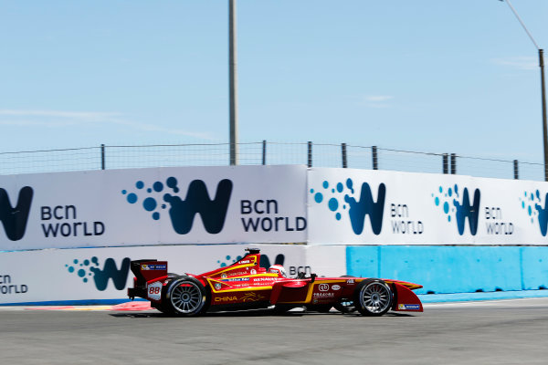 2014 FIA Formula E Championship. Punta del Este ePrix, Uruguay. Antonio Garcia (ESP)/China Racing - Spark-Renault SRT_01E. Photo: Zak Mauger/LAT/FE ref: Digital Image _L0U9791