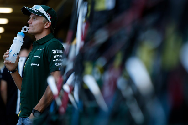 Interlagos, Sao Paulo, Brazil. Thursday 22nd November 2012. Heikki Kovalainen, Caterham F1.  World Copyright: Charles Coates/LAT Photographic ref: Digital Image _N7T3450