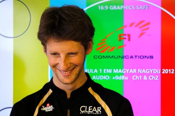 Hungaroring, Budapest, Hungary26th July 2012Romain Grosjean, Lotus GP. World Copyright:Andrew Ferraro/LAT Photographicref: Digital Image _Q0C2019