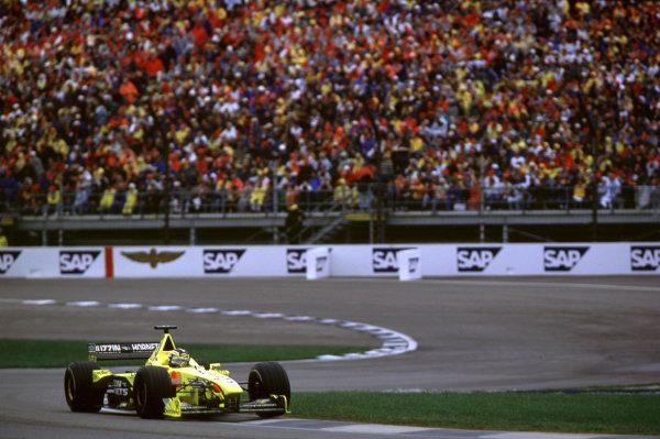 Indianapolis, Indiana, USA. 22-24 September 2000.Heinz-Harald Frentzen (Jordan EJ10 Mugen Honda) 3rd position.Ref-2k USA A28.World Copyright - Coates/LAT Photographic
