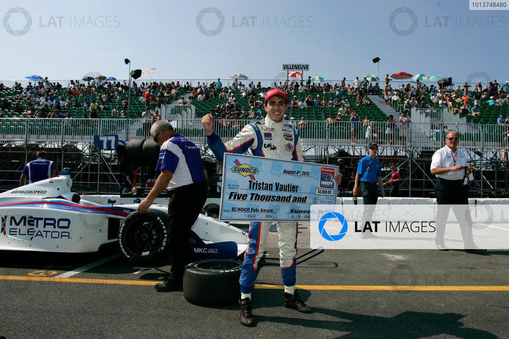 3-5 August, 2012, Trois-Rivieres, Quebec CA TRISTAN VAUTIER, Sam Schmidt Motorsports, Pole Position Award ,©2012, Ron Bijlsma LAT Photo USA