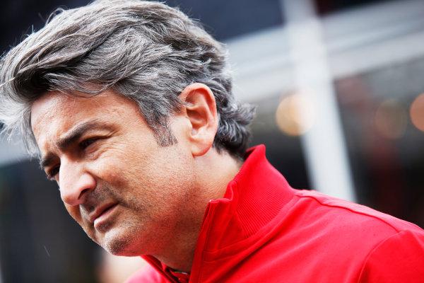 Spa-Francorchamps, Spa, Belgium. Saturday 23 August 2014. Marco Mattiacci, Team Principal, Ferrari. World Copyright: Charles Coates/LAT Photographic. ref: Digital Image _J5R1316