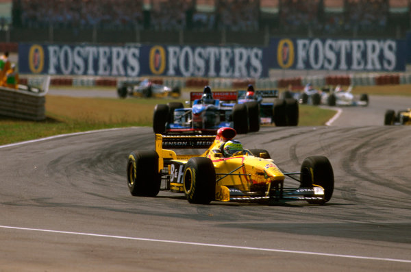 Buenos Aires, Argentina.11-13 APRIL 1997.Giancarlo Fisichella (Jordan 197 Peugeot) who later collided with his teammate Ralf Schumacher and exited from the race. World Copyright - LAT Photographic