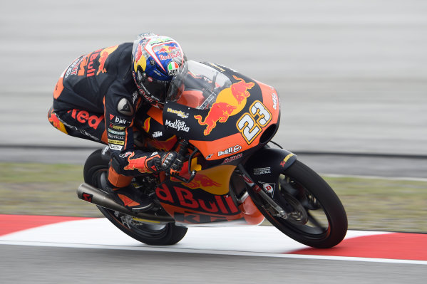 2017 Moto3 Championship - Round 17 Sepang, Malaysia. Friday 27 October 2017 Niccolo Antonelli, Red Bull KTM Ajo World Copyright: Gold and Goose / LAT Images ref: Digital Image 25055