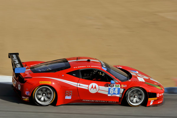 3-4 May, 2014, Monterey, California, USA 64, Ferrari, 458 Italia, GTD, Stefan Johansson, Kyle Marcelli ©2014 Scott R LePage  LAT Photo USA