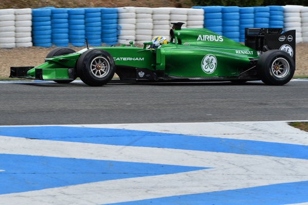 Marcus Ericsson (SWE) Caterham CT05. Formula One Testing, Jerez, Spain, Day Two, Wednesday 29 January 2014.
