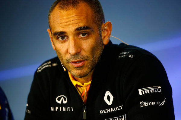 Spa Francorchamps, Belgium.  Friday 25 August 2017. Cyril Abiteboul, Managing Director, Renault Sport F1, in the Team Principals Press Conference. World Copyright: Andy Hone/LAT Images  ref: Digital Image _ONZ9401