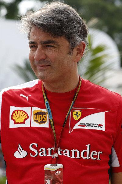 Marina Bay Circuit, Singapore. Thursday 18 September 2014. Marco Mattiacci, Team Principal, Ferrari. World Copyright: Alastair Staley/LAT Photographic. ref: Digital Image _R6T6552