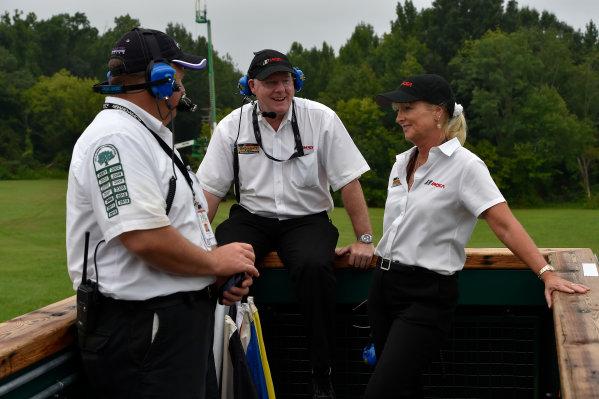 22-24 August 2014, Alton, Virginia USA IMSA officials in starter stand ?2014, Scott R LePage  LAT Photo USA