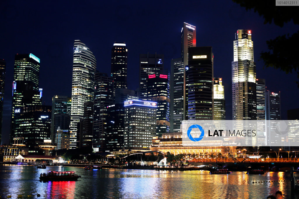 Marina Bay Circuit, Singapore. 18th September 2013. The cityscape of Singapore. World Copyright: Steven Tee/LAT Photographic. ref: Digital Image _14P2571