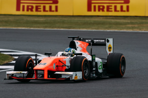 2017 FIA Formula 2 Round 6. Silverstone, Northamptonshire, UK. Sunday 16 July 2017. Sergio Sette Camara (BRA, MP Motorsport).  Photo: Malcolm Griffiths/FIA Formula 2. ref: Digital Image MALC7644