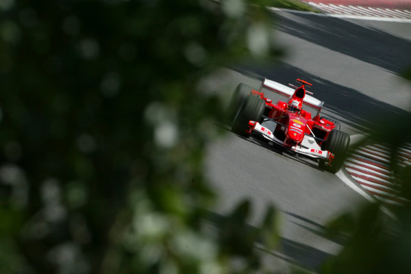 2004 Canadian Grand Prix - Saturday QualifyingMontreal, Canada.12th June 2004.Michael Schumacher, Ferrari F2004 , action.World copyright LAT Photographic.Digital image only (a high res version is available on request)Can_04_Fri_D015 JPG