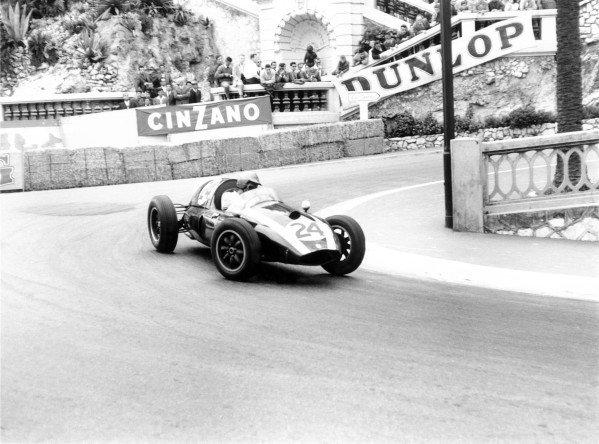 1959 Monaco Grand Prix.Monte Carlo, Monaco. 10 May 1959.Jack Brabham (Cooper T51-Climax), 1st position. Ref-8621D/31.World Copyright - LAT Photographic