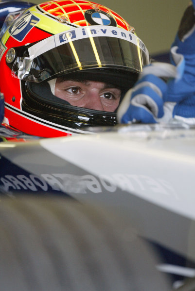 2004 German Grand Prix - Friday Practice,Hockenheim, Germany. 23rd July 2004 Antonio Pizzonia, BMW Williams FW26, in the cockpit of his car.World Copyright: Steve Etherington/LAT Photographic ref: Digital Image Only