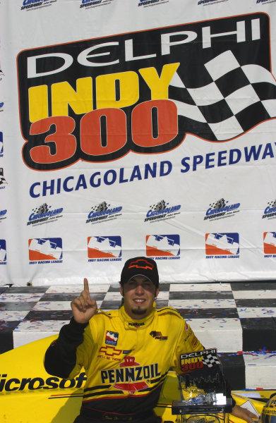 IRL IndyCar Series Delphi Indy 300, Chicagoland Speedway, Joilet,Illinois,USA 7 September,2003 Winner Sam Hornish,Jr.World Copyright-F Peirce Williams 2003 LAT Photographicref: Digital Image Only
