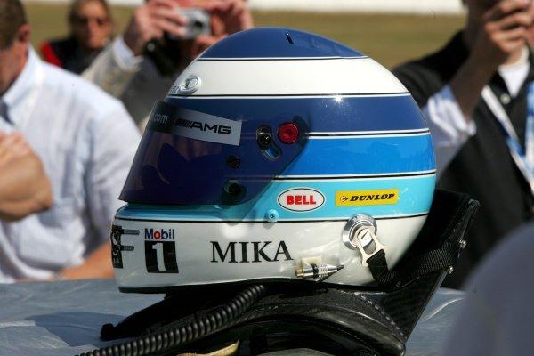 The helmet of Mika Hakkinen (FIN) AMG Mercedes  DTM, Rd 1, Hockenheim, Germany, Sunday 22 April 2007. DIGITAL IMAGE