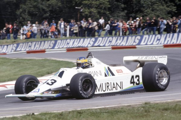 1980 British Grand Prix.Brands Hatch, Great Britain. 11-13 July 1980.Desire Wilson (Williams FW07-Ford Cosworth), did not qualify.World Copyright: LAT PhotographicRef: 35mm transparency 80GB30