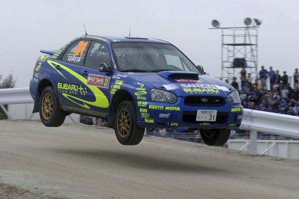 2005 FIA World Rally Champs. Round thirteen,  Rally Japan  29th September- 2nd October 2005 Toshi Arai, Subaru PWRC, action. World Copyright: McKlein/LAT