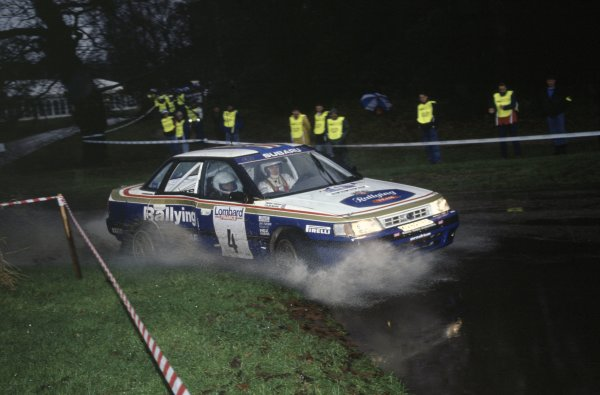 1992 World Rally Championship.Lombard RAC Rally, Great Britain. 22-25 November 1992.Colin McRae/Derek Ringer (Subaru Legacy RS), 6th position.World Copyright: LAT PhotographicRef: 35mm transparency 92RALLY20