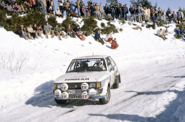1981 World Rally Championship.Monte Carlo Rally, Monaco. 24-30 January 1981.Guy Frequelin/Jean Todt (Talbot Sunbeam Lotus), 2nd position.World Copyright: LAT PhotographicRef: 35mm transparency 81RALLY18