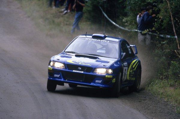 1999 World Rally Championship.Finnish Rally, Finland. 20-22 August 1999.Juha Kankkunen/Juha Repo (Subaru Impreza WRC), 1st position.World Copyright: McKlein/LAT PhotographicRef: 35mm transparency 99RALLY10