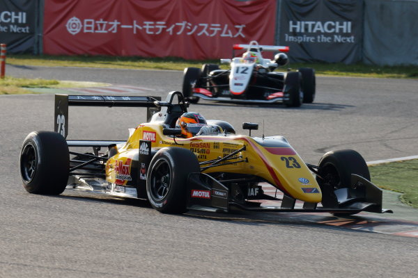 2017 Japanese Formula 3 Championship. Suzuka, Japan. 22nd - 23rd April 2017. Rd 4 & 5. Winner Mitsunori Takaboshi ( #23 B-MAX NDDP F3 ) action  World Copyright: Yasushi Ishihara / LAT Images. Ref: 2017JF3_Rd4_003
