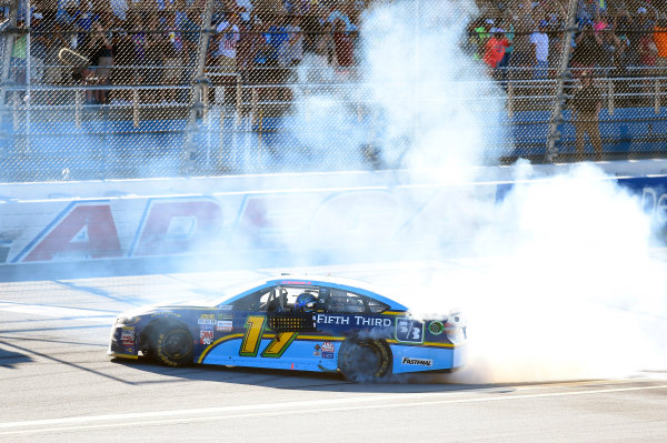 Monster Energy NASCAR Cup Series GEICO 500 Talladega Superspeedway, Talladega, AL USA Sunday 7 May 2017 Ricky Stenhouse Jr, Roush Fenway Racing, Fifth Third Bank Ford Fusion celebrates his win World Copyright: Nigel Kinrade LAT Images ref: Digital Image 17TAL1nk07441