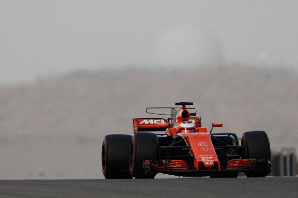 Bahrain International Circuit, Sakhir, Bahrain.  Wednesday 19 April 2017. Stoffel Vandoorne, McLaren MCL32 Honda.  World Copyright: Glenn Dunbar/LAT Images ref: Digital Image _X4I4617