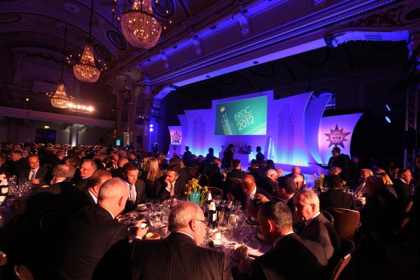Grand Connaught Rooms, London, England. 3rd December 2012. A view of the stage and guests. World Copyright: Jakob Ebrey/LAT Photographic ref: Digital Image 027