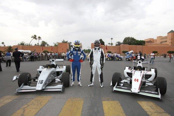 (L to R): Jack Clarke (GBR) and Will Bratt (GBR). FIA Formula Two Championship, Rd2,  Marrakech, Morocco. Thursday 29 April 2010