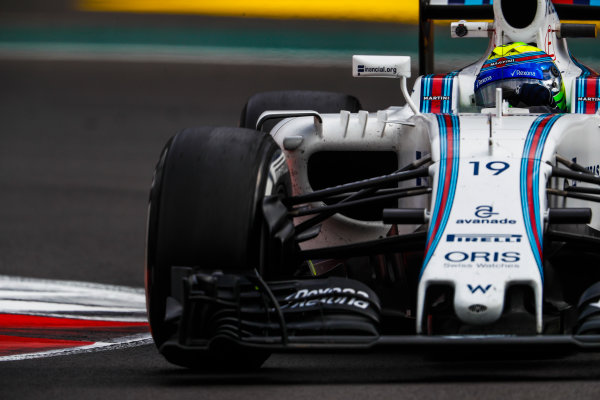 Autodromo Hermanos Rodriguez, Mexico City, Mexico. Friday 28 October 2016. Felipe Massa, Williams FW38 Mercedes. World Copyright: Glenn Dunbar/LAT Photographic ref: Digital Image _X4I6841