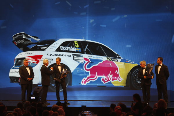 2016 FIA Prize Giving Vienna, Austria Friday 2nd December 2016 Mattias Ekstrom and the EKS World Rally team collect their trophies. Photo: Copyright Free FOR EDITORIAL USE ONLY. Mandatory Credit: FIA ref: 30557854494_ce2e11aa26_o