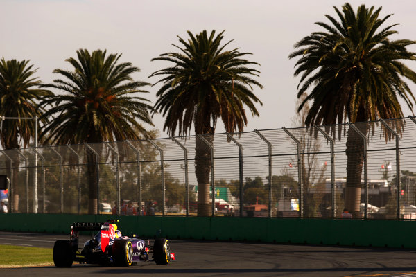 Albert Park, Melbourne, Australia. Friday 14 March 2014. Daniel Ricciardo, Red Bull Racing RB10 Renault. World Copyright: Steven Tee/LAT Photographic. ref: Digital Image _L0U1106