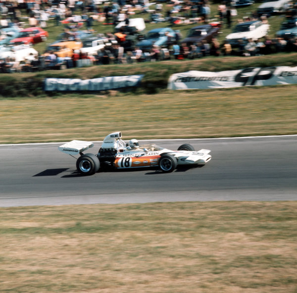 Brands Hatch, England. 13-15 July 1972.Denny Hulme (McLaren M19C Ford) 5th position. Ref-3/5100K.World Copyright - LAT Photographic