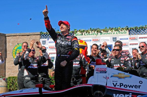 24-26 August, 2012, Sonoma, California USAWinner Ryan Briscoe (#2) celebrates in Victory Lane.(c)2012, F. Peirce WilliamsLAT Photo USA