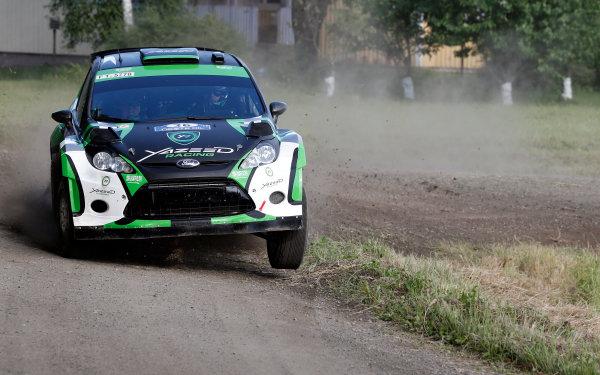 Round 08-Neste Rally Finland 1/8-4/8 2012.Yazeed Al Rajhi, Ford S2000, Podium.Worldwide Copyright: McKlein/LAT