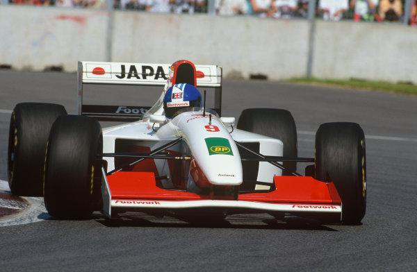 Montreal, Quebec, Canada. 11-13 June 1993.Derek Warwick (Footwork 014-Mugen Honda), 16th position, action. World Copyright: LAT Photographic.Ref:  93CAN