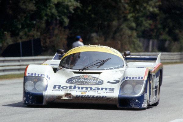 Le Mans, France. 18-19 June 1983.Al Holbert/Hurley Haywood/Vern Schuppan (Porsche 956), 1st position, action. World Copyright: LAT Photographic.Ref:  83LM13.